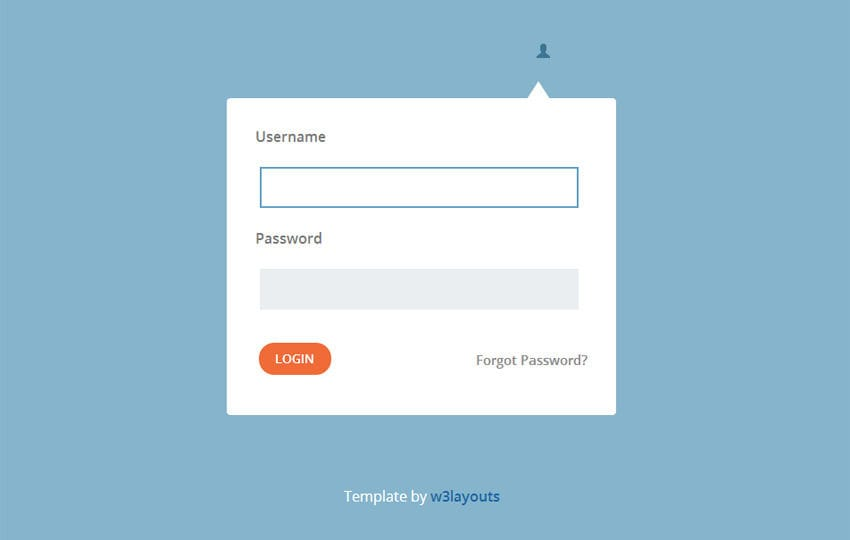 Login Popup Flat Form Template By W3layouts