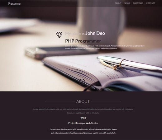 free professional resume website templates web download builder page template