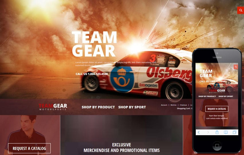 Team Gear a Flat ECommerce Bootstrap Responsive Web Template Mobile website template Free