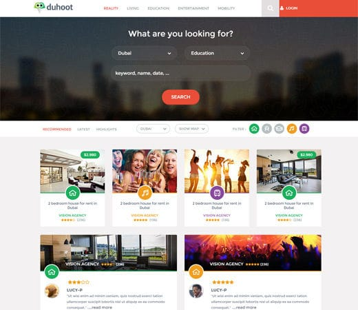 duhoot a portal multipurpose flat bootstrap responsive web template by w3layouts. Black Bedroom Furniture Sets. Home Design Ideas