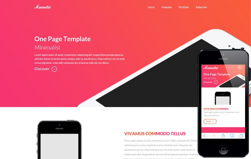 Minimalist a onepage Multipurpose Flat Bootstrap Responsive web template Mobile website template Free