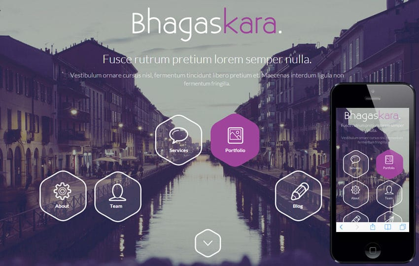 Bhagaskara a onepage Multipurpose Flat Bootstrap Responsive web template