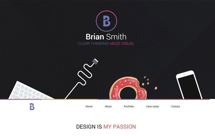 Brian a Onepage Portfolio Flat Bootstrap Responsive Web Template Mobile website template Free