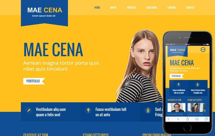 Mae Cena Corporate Multipurpose Flat Bootstrap Responsive Web Template Mobile website template Free