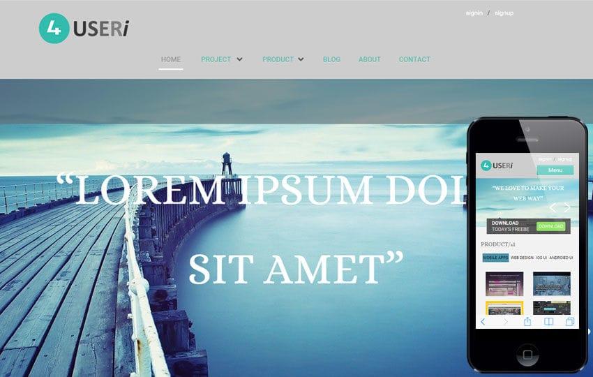 4Useri a Corporate Multipurpose Flat Bootstrap Responsive Web Template Mobile website template Free