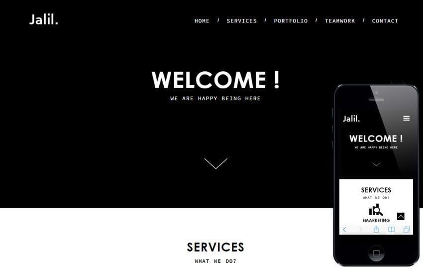 jalil a corporate portfolio flat bootstrap responsive web template