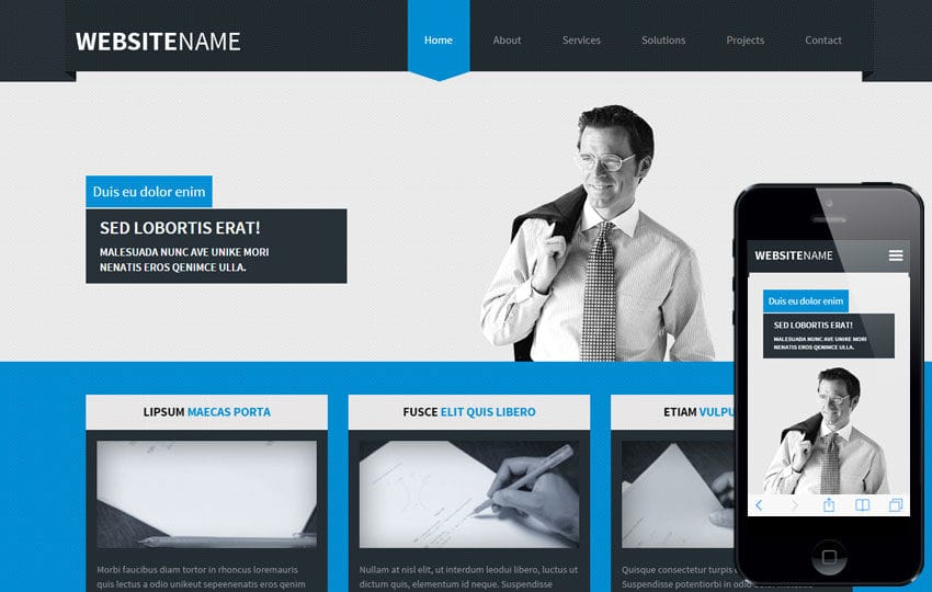 Web Responsive Template. free interior design website. website ...