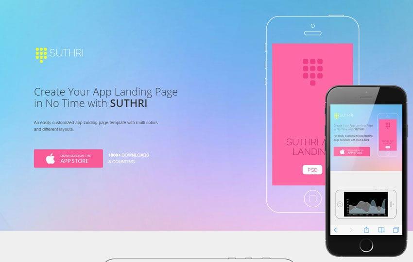 Suthri A Mobile App Based Flat Bootstrap Responsive Web