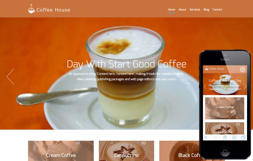 Coffee House a Hotel Category Flat Bootstrap Responsive Web Template Mobile website template Free