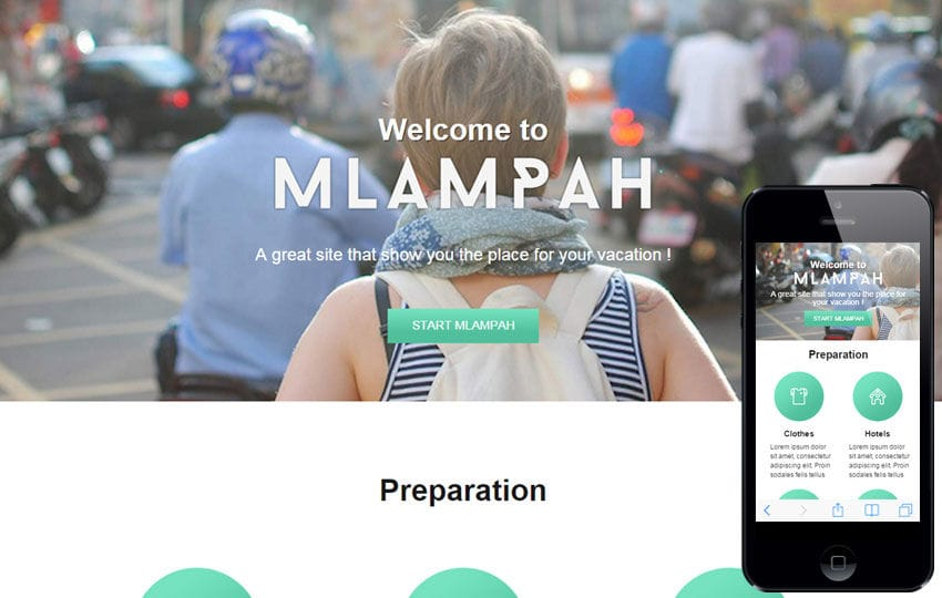 Mlampah a Travel Category Flat Bootstrap Responsive Web Template Mobile website template Free