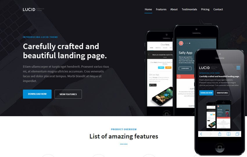 Web design free responsive html5 css3 website templates lucid v1 splashy a corporate portfolio flat bootstrap responsive web template mobile website pronofoot35fo Image collections
