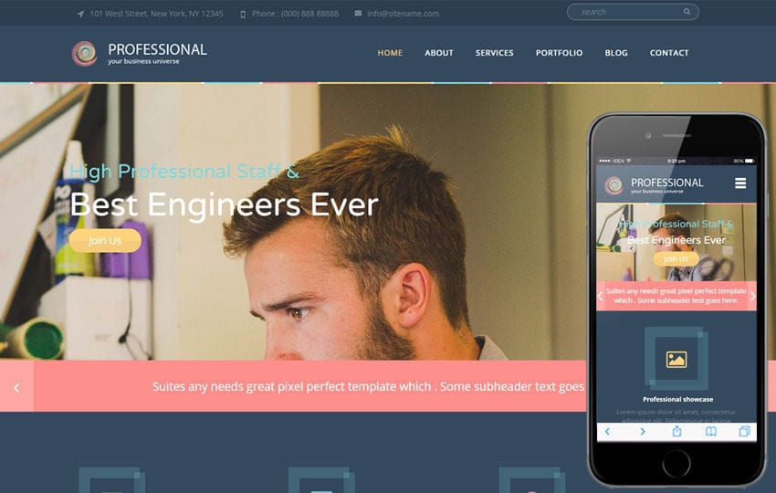 Professional A Corporate Portfolio Flat Bootstrap Responsive Web - Professional website templates