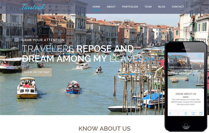 Taisteal a Travel Category Flat Bootstrap Responsive Web Template Mobile website template Free