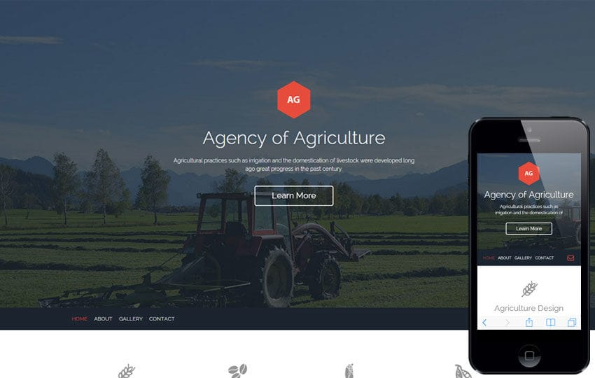Agro Agency a Agriculture Category Flat Bootstrap Responsive Web Template Mobile website template Free