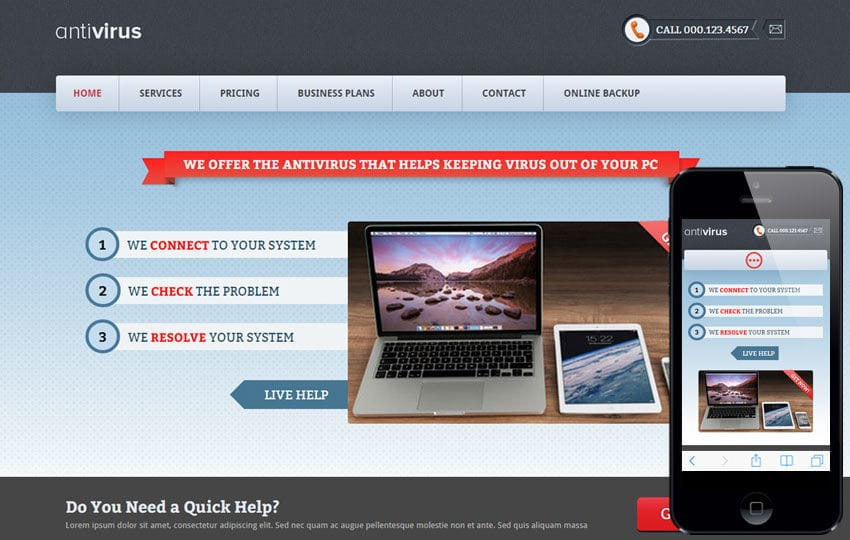 Anti Virus a Corporate Business Flat Bootstrap Responsive Web ...