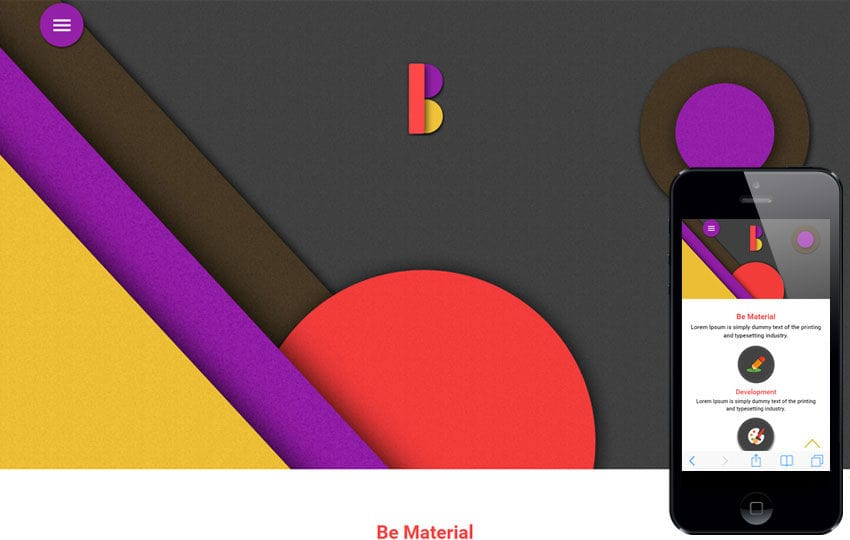 Be Material a Corporate Portfolio Flat Bootstrap Responsive Web Template Mobile website template Free