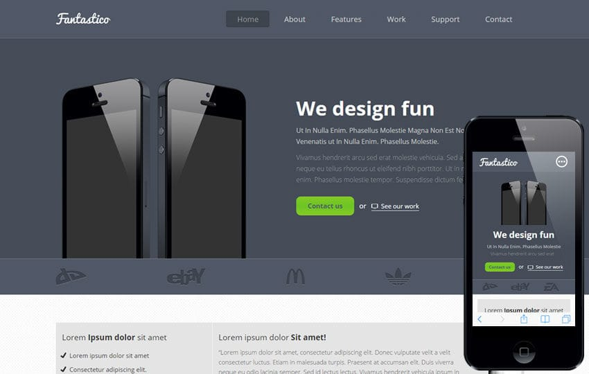 website application templates