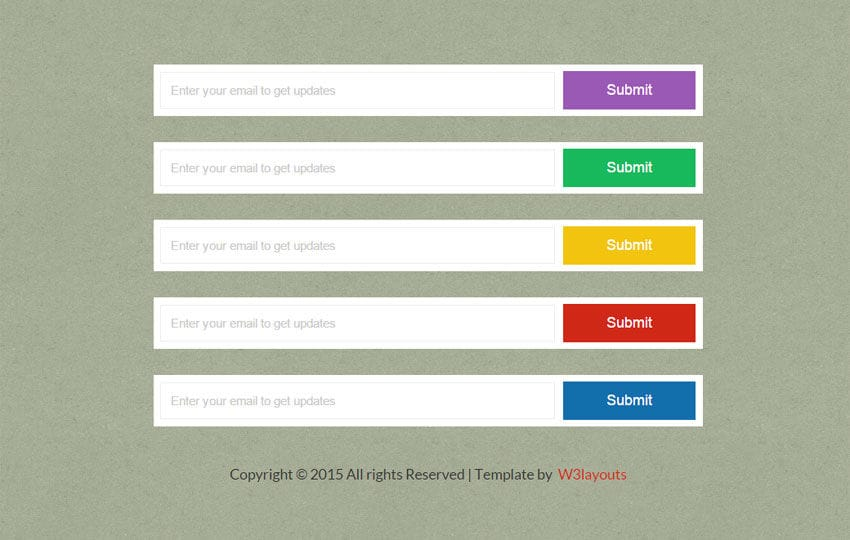 Flat Buttons Submit Forms Widget Template Mobile website template Free