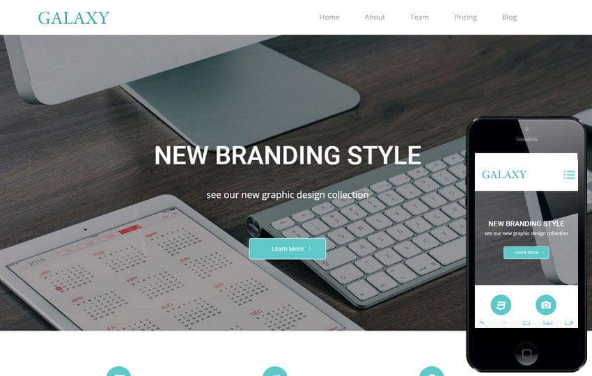 Galaxy a Corporate Multipurpose Flat Bootstrap Responsive Web Template Mobile website template Free