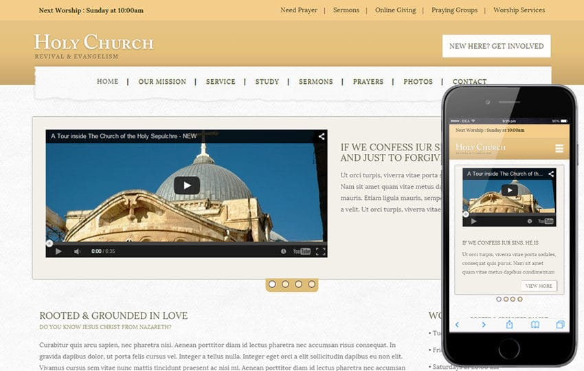 Holy Church A Religious Category Flat Bootstrap Responsive Web - Church website templates