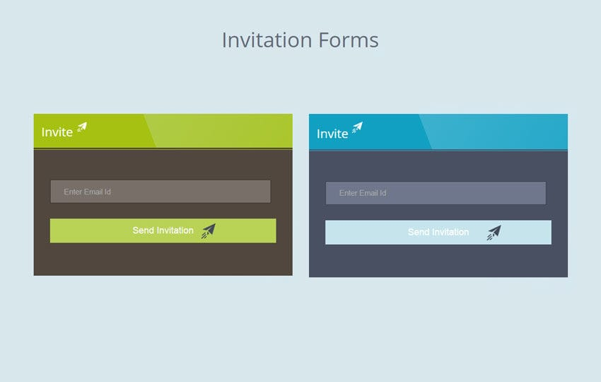 Flat Invitation Forms Widget Template  Invitation Forms