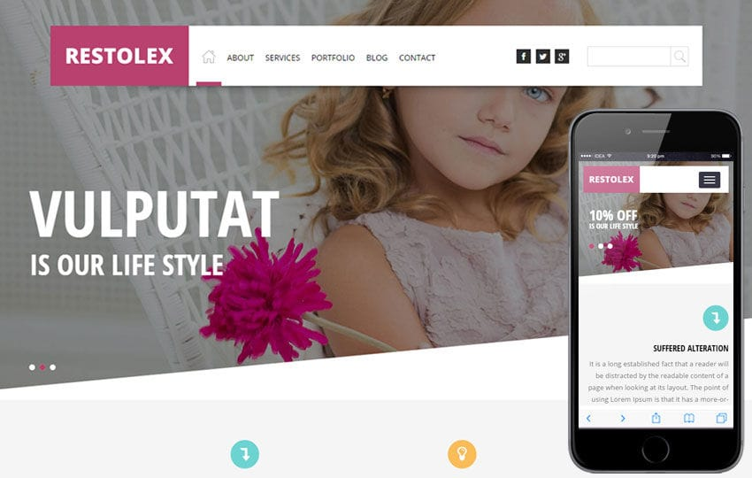 Restolex a Interior Architects Multipurpose Flat Bootstrap Responsive Web Template Mobile website template Free