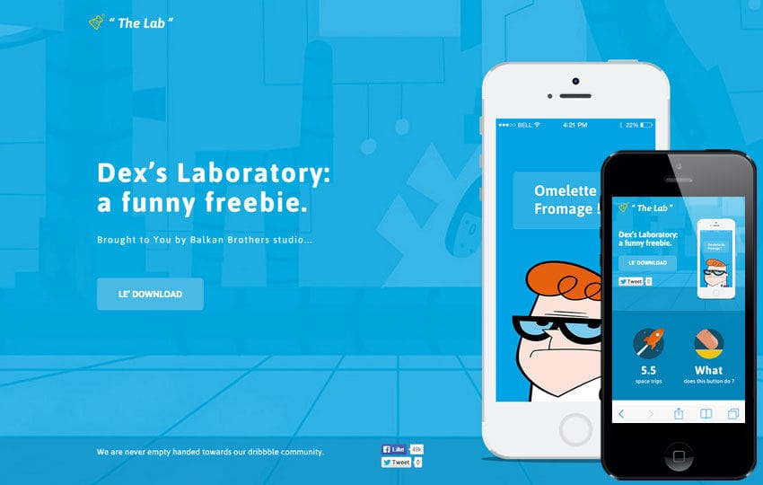 The Lab a Mobile App Landing Flat Bootstrap Responsive Web Template ...