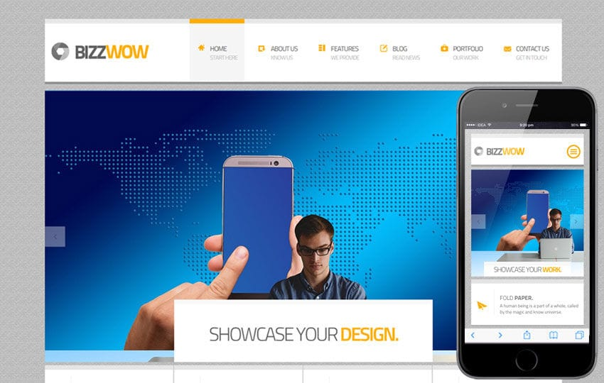 Bizz wow a corporate business flat bootstrap responsive web template wajeb Gallery