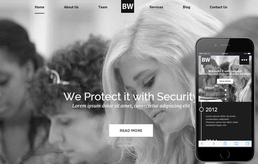 Black and White a Educational Category Flat Responsive web template Mobile website template Free
