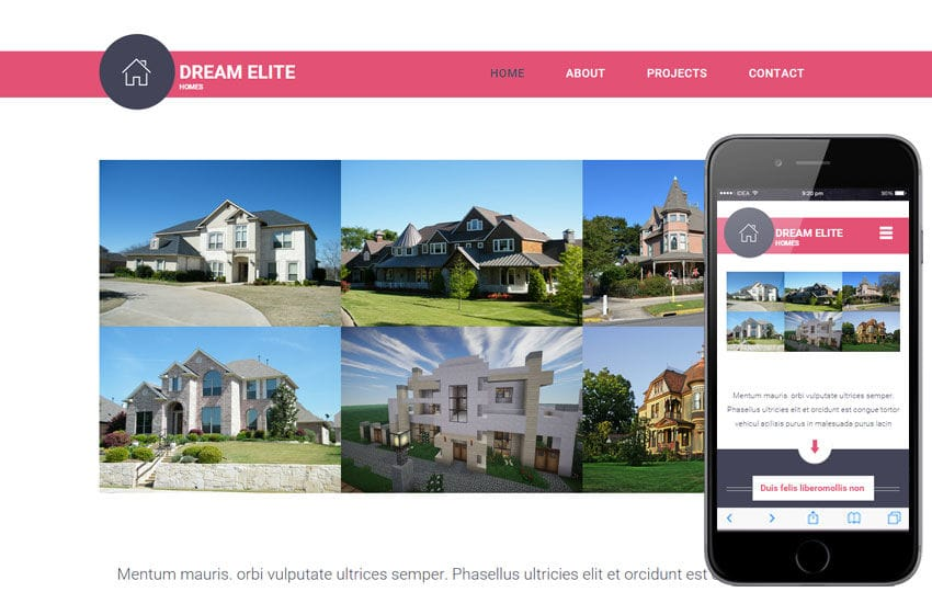 Dream Elite a Real Estate Category Flat Bootstrap Responsive Web Template Mobile website template Free