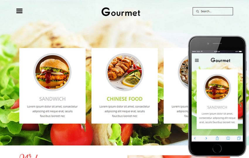 Gourmet a Hotel Category Flat Bootstrap Responsive Web Template Mobile website template Free