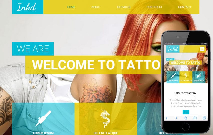 Inkd a Fashion Category Flat Bootstrap Responsive web template Mobile website template Free