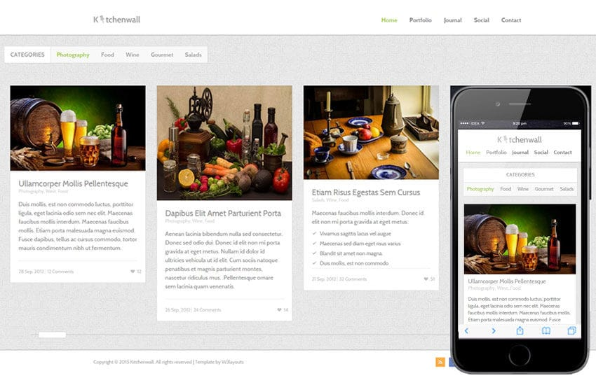 Kitchen Wall A Food Category Flat Bootstrap Responsive Web Template Gorgeous Kitchen Web Design
