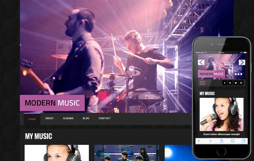 Modern Music a Entertainment Category Flat Bootstrap Responsive web template Mobile website template Free