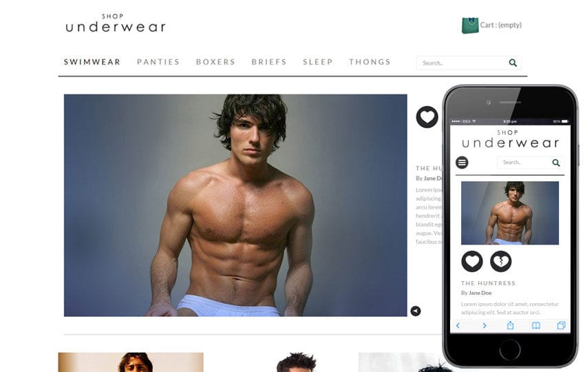 Shop Under Wear a Flat Ecommerce Bootstrap Responsive Web Template Mobile website template Free