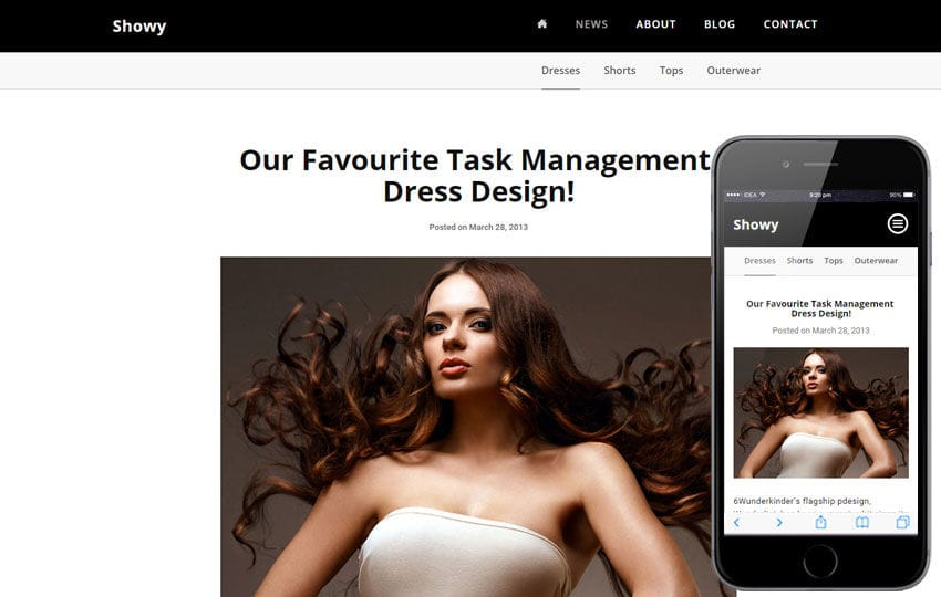 Showy a Fashion Category Flat Bootstrap Responsive Web Template Mobile website template Free