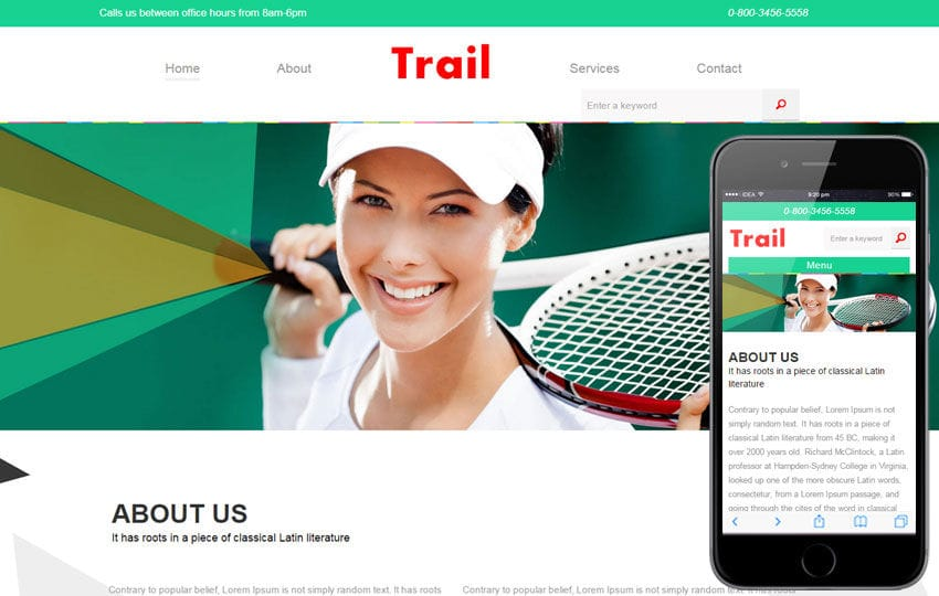 Trail a Sports Category Flat Bootstrap Responsive Web Template Mobile website template Free