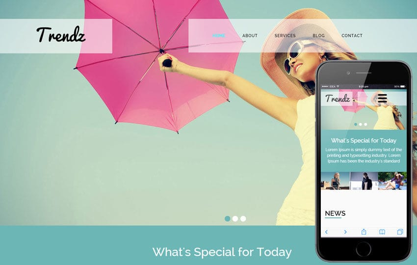 Trendz a Fashion Category Flat Bootstrap Responsive Web Template Mobile website template Free