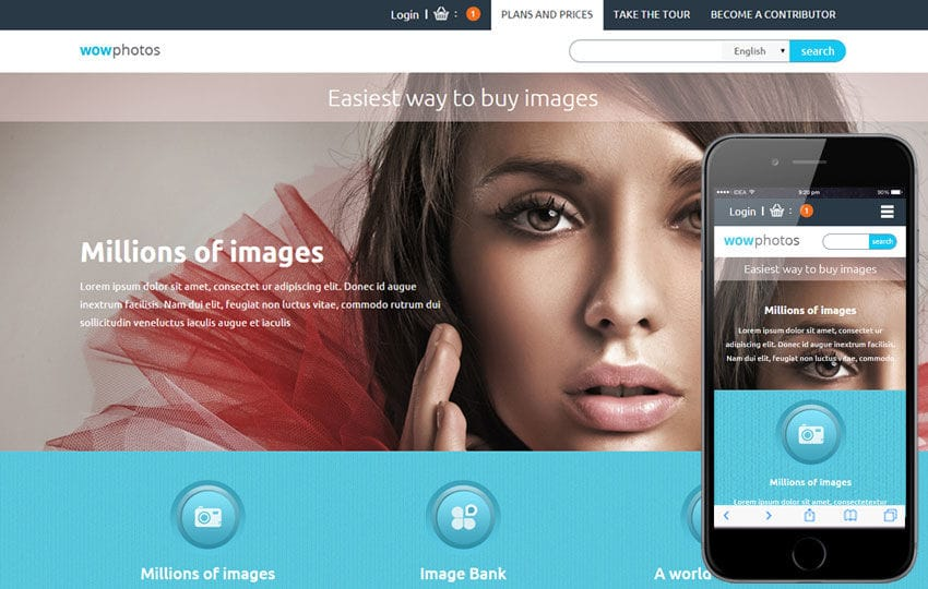 Wow Photos a Flat Ecommerce Bootstrap Responsive Web Template Mobile website template Free