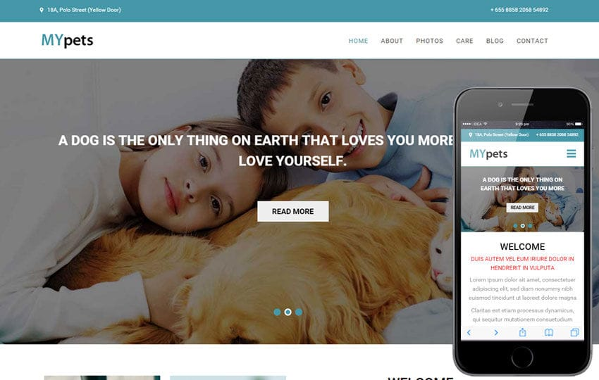 My Pets a Animal Category Flat Bootstrap Responsive Web Template Mobile website template Free