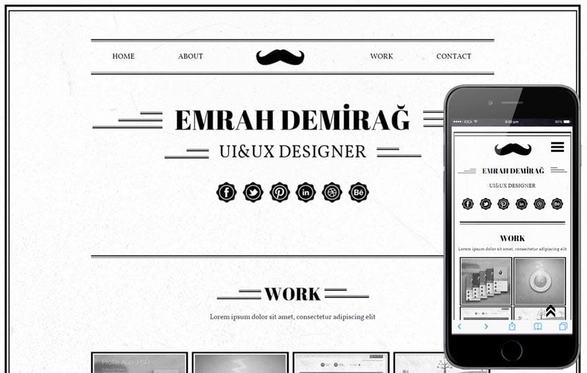Emrah Demirag a Onepage Portfolio Flat Bootstrap Responsive Web Template Mobile website template Free