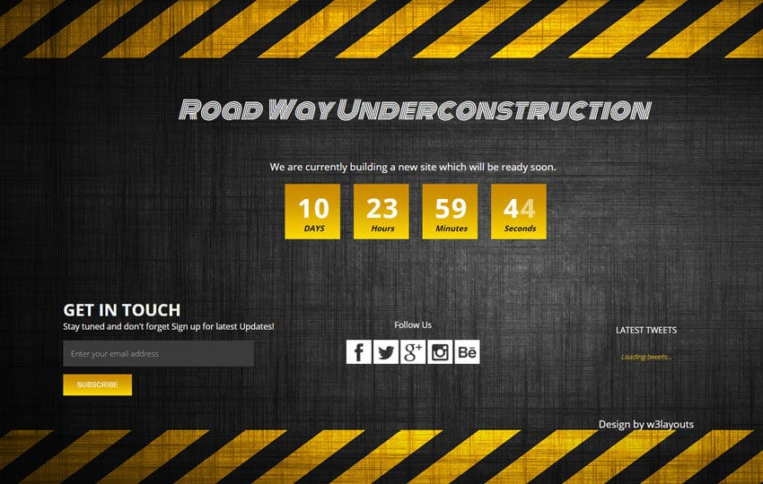 dark under construction mobile website template by w3layouts. Black Bedroom Furniture Sets. Home Design Ideas