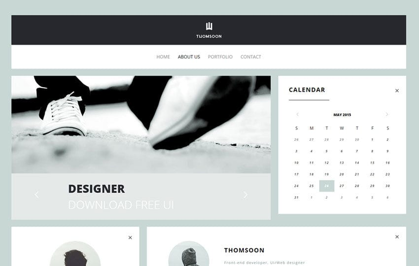 Thomsoon UI Kit a Flat Bootstrap Responsive Web Template Mobile website template Free