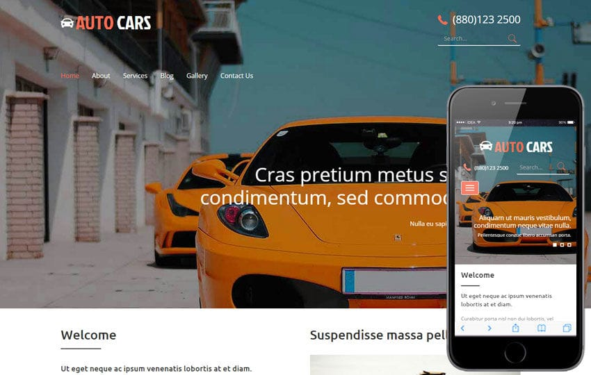 Auto Cars A Auto Mobile Category Flat Bootstrap Responsive Web