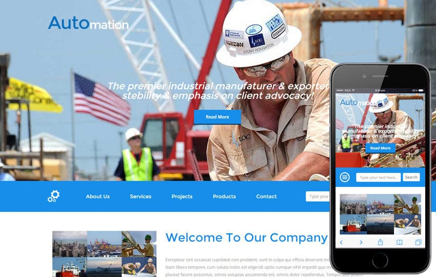 Automation a Industrial Category Flat Bootstrap Responsive Web ...
