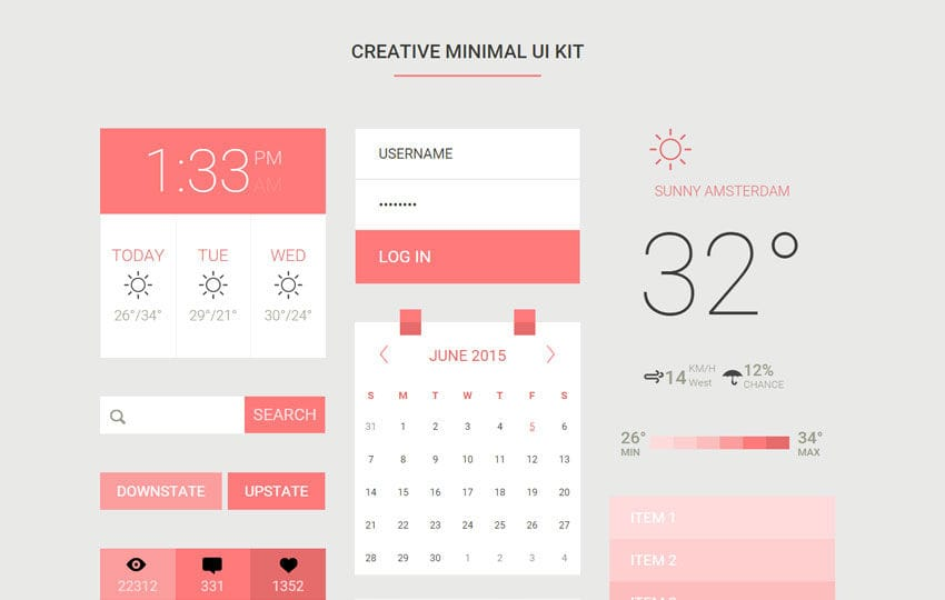 Creative Minimal UI Kit a Flat Bootstrap Responsive Web Template by ...