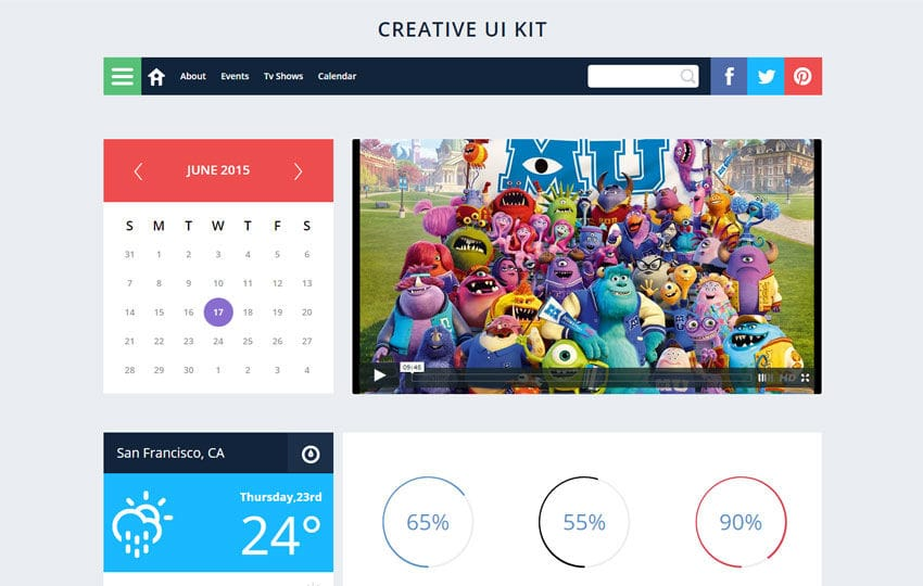 Creative UI Kit a Flat Bootstrap Responsive Web Template