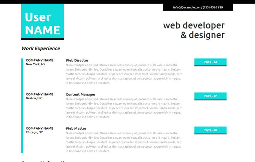 Personal resume website templates free download sites ideas theme personal resume website templates free download sites ideas theme cv template responsive resume personal yelopaper