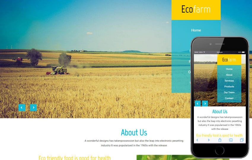 Eco Farm a Agriculture Category Flat Bootstrap Responsive Web Template Mobile website template Free