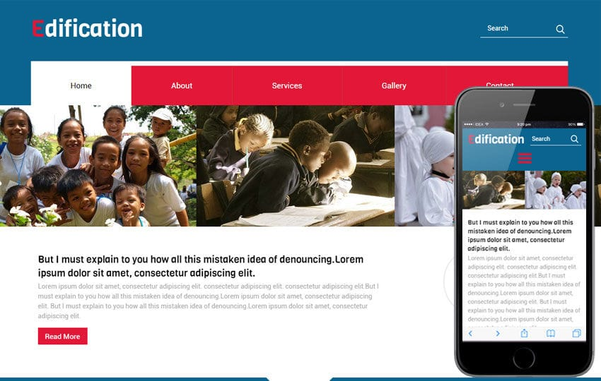 Edification a Educational Category Flat Bootstrap Responsive web template Mobile website template Free